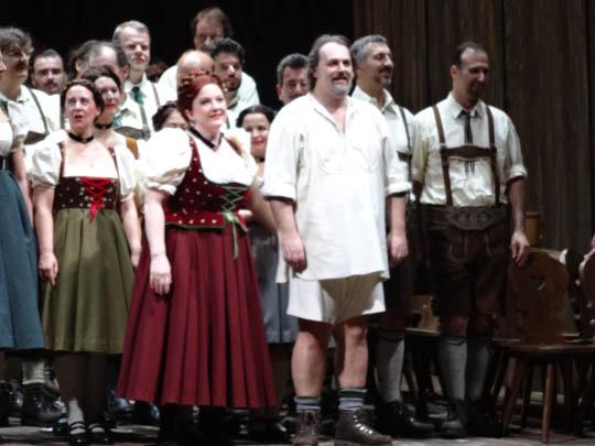 Wolfgang Koch (Telramund) Michaela Martens (Ortrud) aux saluts